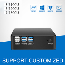 Mini Computer Desktop Windows 10 240GB SSD Mini PC Core i3 7100U i5 7200U i7 7500U CPU 4K Display HTPC Komputer TV BOX 4*USB3.0