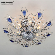 2016 New Ceiling Light Luxurious Silver Color Crystal Ceiling Light Fitting Golden Color Mounted Lamp Lustres Living Dining Room