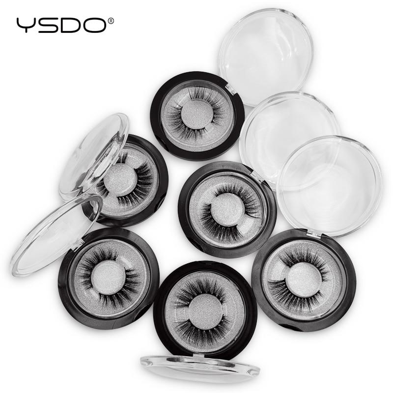 Caixa de cílios vison cílios dramáticos 1 YSDO feito à mão 3d suaves cílios postiços cílios naturais 3d falso vison cílios de volume cílios