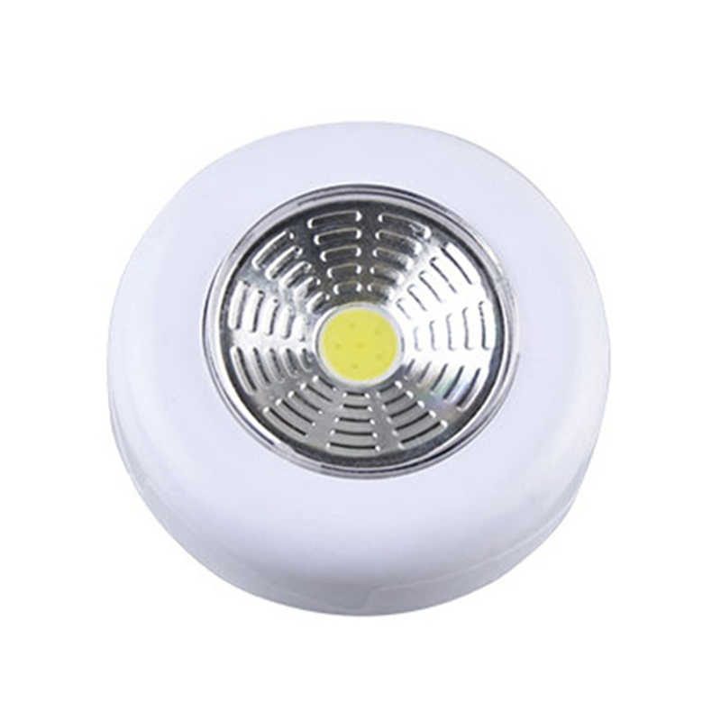 1/5/10X COB LED Stick Touch Under Cabinet Light Kitchen Bedroom Wall Lamp Corridor Stair Night Lamp White Lights Battery Powered