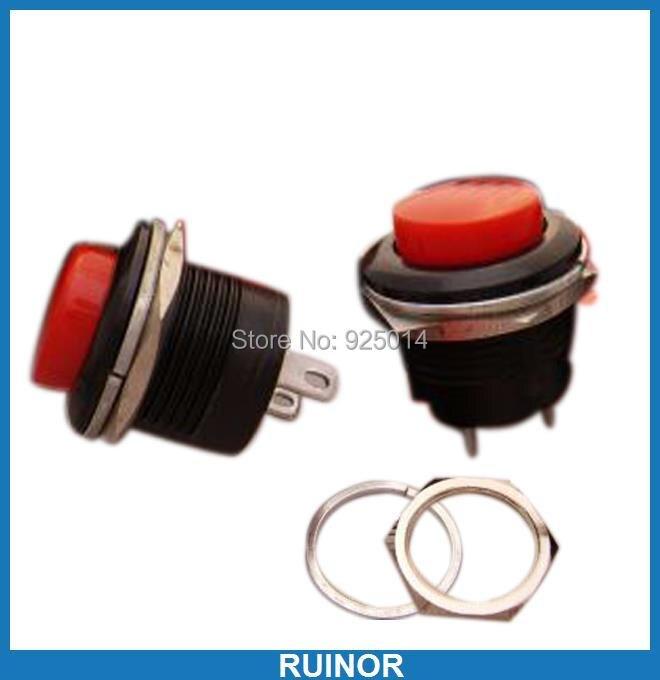 50 pièces x bouton-poussoir momentané OFF-(ON) N/O bricolage interrupteur, RM507