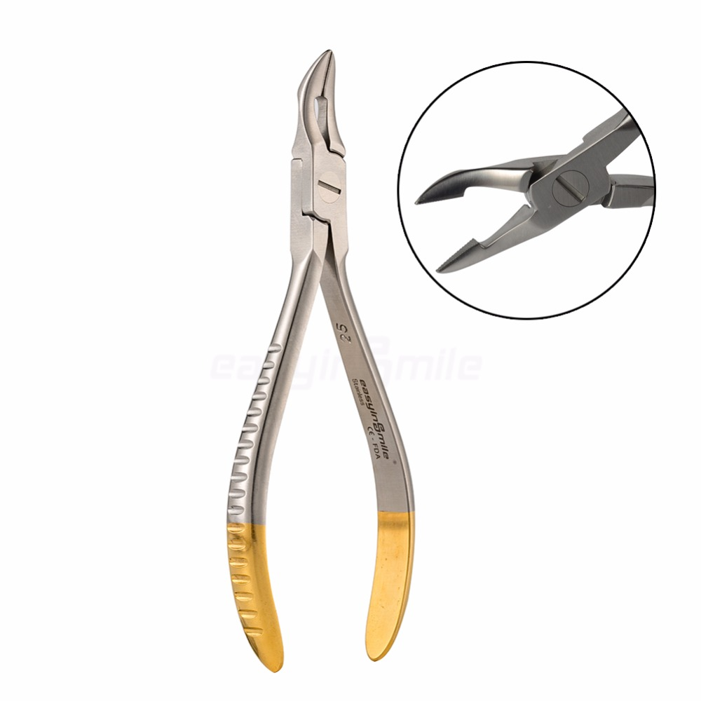 Dental orthodontic Weingart utility pliers Easyinsmile Weingart Plier TC-Half Gold MAX Dia 0.7mm,0.019X0.025 Premium quality kim dental pliers dental orthodontic kim multi curved square wire bending forming pliers dental tools