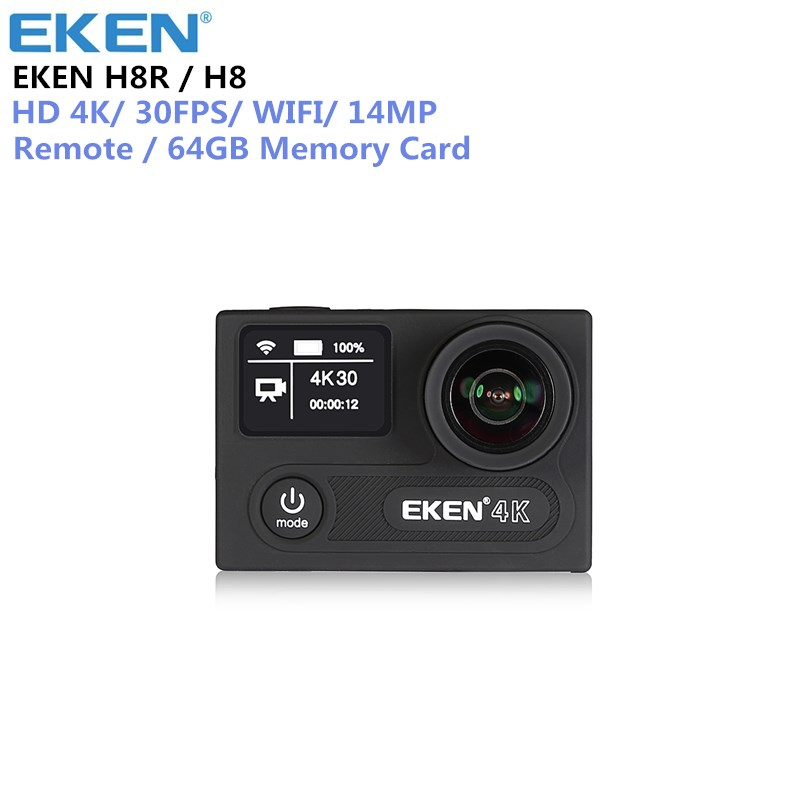 EKEN H8 H8R Ultra HD 4K 30FPS WIFI Action Camera 30M waterproof 14MP 1080p 60fps DVR underwater go Helmet extreme pro sport cam eken h6s a12 ultra 4k 30fps wifi action camera 30m waterproof 1080p go eis image stabilization ambarella 14mp pro sport cam