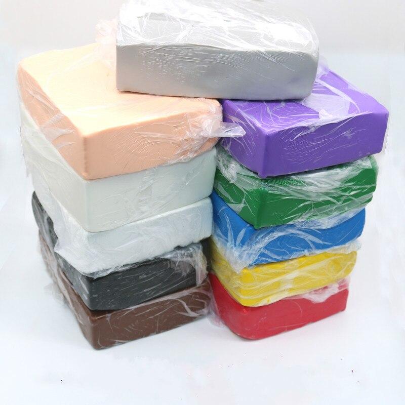 1 kg/pack Professionelle Weichen Ton Schlamm Polymer Clay Keramik DIY Sculpting Keramik action figure puppe 16 farben