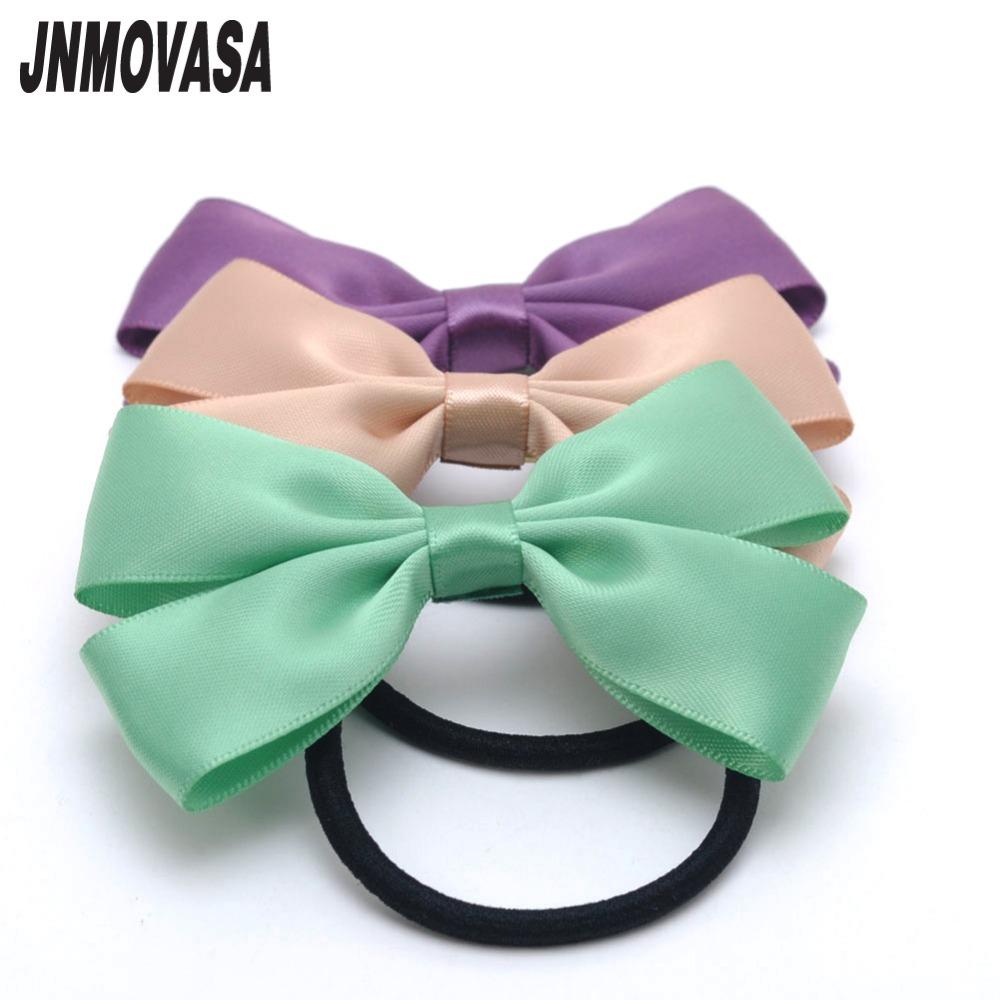 unid assorted colors sweety slido cinta de raso arcos elsticos de goma lazos del pelo
