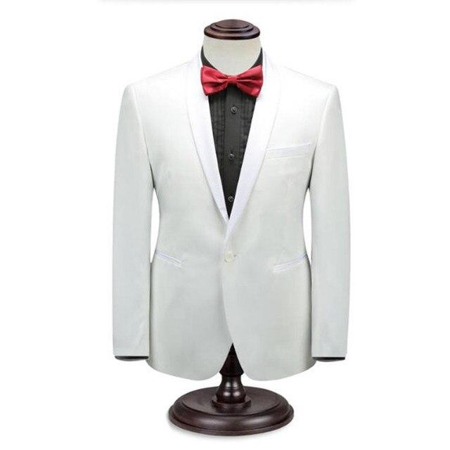 Белые мужские костюмы куртка custom made формальные деловые костюмы куртка стильные элегантные свадебные дружки платье куртка