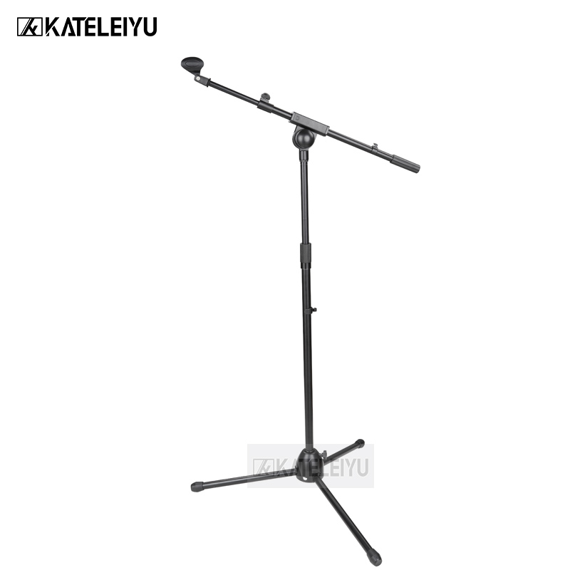 NB-762 Professional swing boom floor stand microphone holder Flexible Stage Microphone Stand Tripod