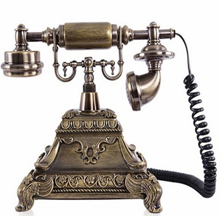 Avropa Moda Dərsinə Qatran Tunc Antik Telefonlar Otel Telefon - Ofis elektronikası - Fotoqrafiya 4