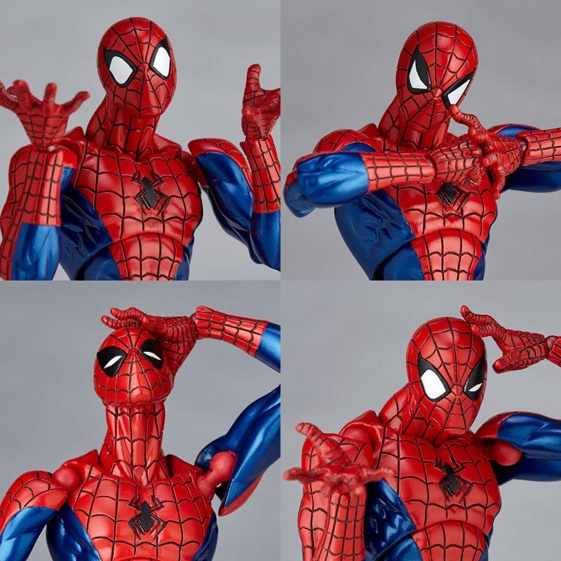 Revoltech Amazing Red Venom Carnage Amazing Captain America Spiderman Magneto Wolverine X-men Action Figures Toy Doll (35)