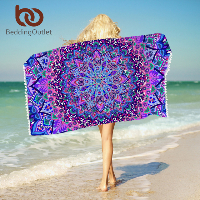 Beddingoutlet Böhmischen Mandala Bad Handtuch Mit Quasten Mikrofaser