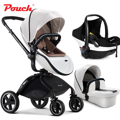 Ru warehouse direct ship! 3 in 1 Pouch baby strollers including car seat baby strollers 3 in 1 leather baby carriage baby gift factory direct italics opening film ru ru ceramic dragons kung fu tea logo customized gift boxes