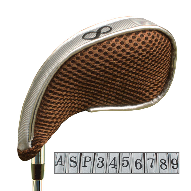 Andux Mesh Golf Iron Head Covers with Zipper Left and Right Handed 10pcs set MT YB003
