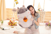 new arrival large 55cm cartoon gray hamster plush toy soft doll pillow christmas gift b1346