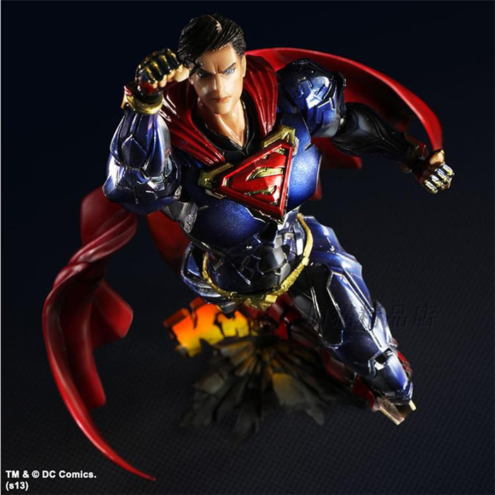 MODEL FANS Superman Action Figure Play Arts Kai Movable Justice League PVC Toys 260mm Anime Movie Model Superman Playarts Kai batman joker action figure play arts kai 260mm anime model toys batman playarts joker figure toy