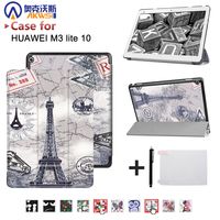 Smart Ultra Stand Cover Case For 2017 Huawei MediaPad M3 Lite 10 Tablet For BAH W09