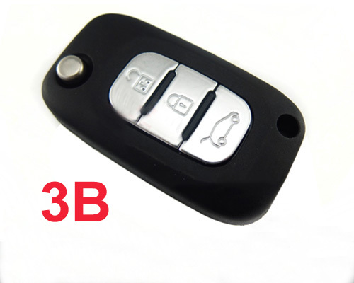 BRAND NEW Flip Folding Remote Key Keyless 3 Button For Renault 433MHZ ID46 Chip Uncut Blade brand new high quality remote key keyless alarm 2 button for renault laguna smart card with insert small key blade 434mhz