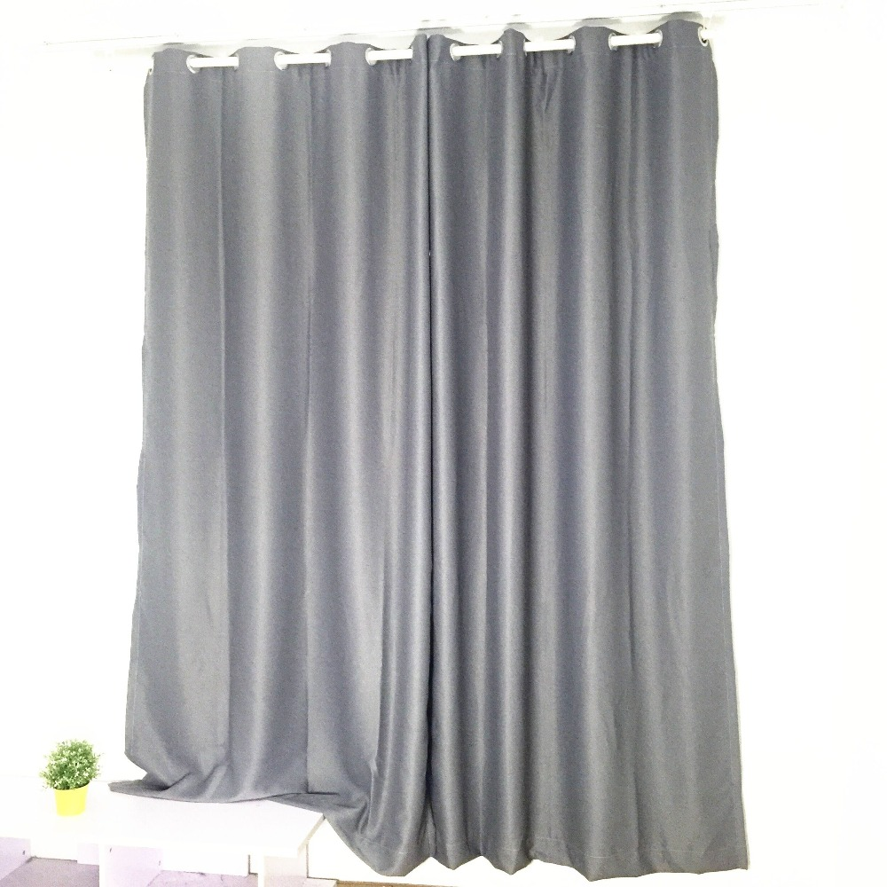 solid color dark grey curtains living room bedroom blackout curtains