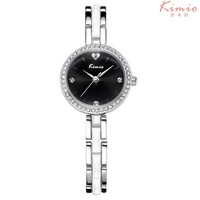 KIMIO Women Watches Top Brand Stainless Steel Imitation Ceramic Strap Quartz Watch Love Heart Rhinestone Bracelet