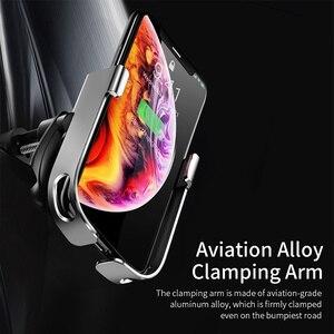 Image 5 - Baseus 10W Sạc Không Dây Qi Cho iPhone 11 Pro XS Max Samsung Giá Đỡ Điện Thoại Ô Tô Thông Minh Hồng Ngoại Nhanh sạc Không Dây