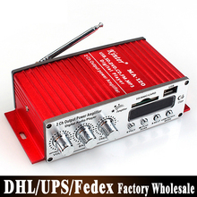 DHL Fedex 20pcs/lot USB MP3 Digital Player DC12V Mini Car Motorcycle Audio Amplifier Stereo