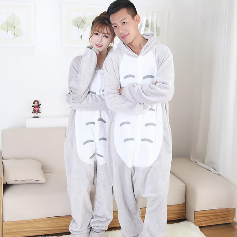 2017 New Fashion Womens Character Pajamas Full Sleeve Hooded Polyester Pajama Sets Onsie ...