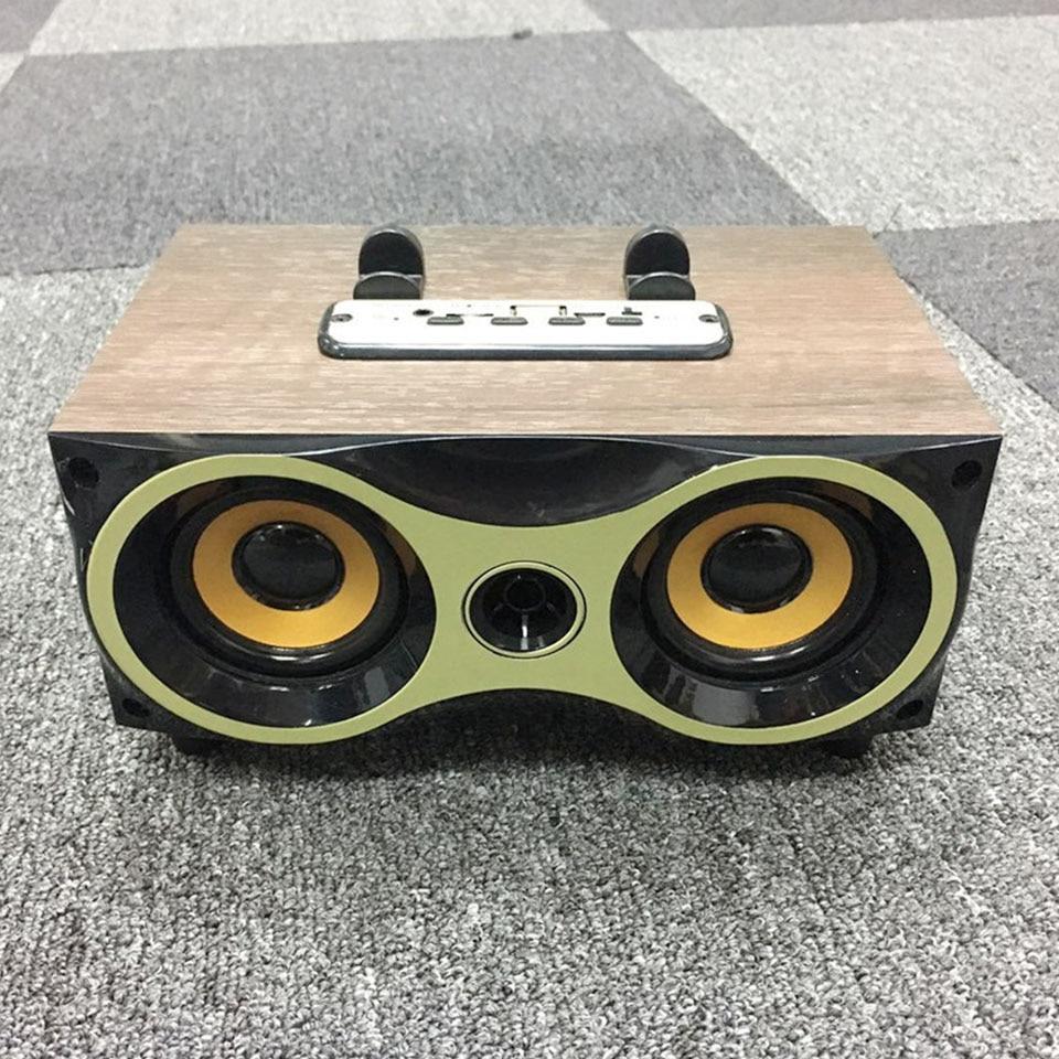 Wooden Wireless Bluetooth Speaker Portable PC Phone Sound Box Hifi Shock Bass Subwoofer Tf FM Radio Retro Tv Soundbar For Xiaomi