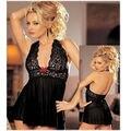 Senhoras Sexy Vestido de Renda Babydoll Lingerie Pijamas G corda Plus Size Sleepwear