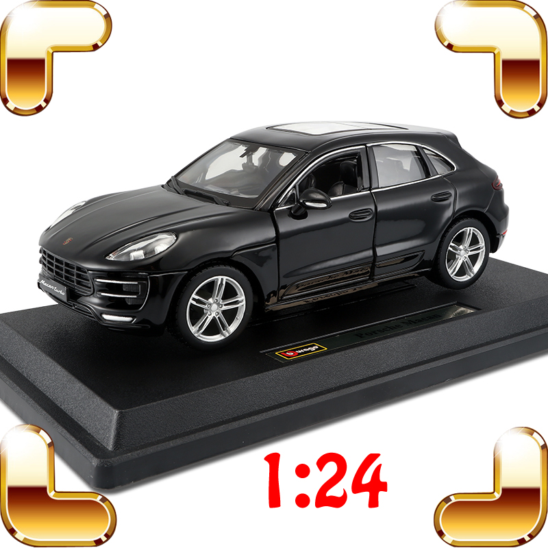 New Year Gift Macan 1/24 Model Metal Car Collection Front Decoration Alloy Die-cast Mini Vehicle Scale Model Toy SUV Present siku die cast metal model simulation toy 1 32 scale ropa beet harvester educational car for children s gift or collection big
