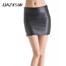 QAZXSW Plus Size S-3XL Pencil Skirt Women Casual Style Fashion Skirts Kilt Winter Vintage Tartan Umbrella Solid Skirts YC159