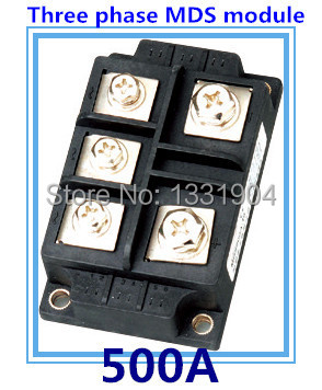 500A three phase Bridge Rectifier Module MDS 500 welding type used for input rectifying power supply and so on saimi skd160 08 160a 800v brand new original three phase controlled rectifier bridge module