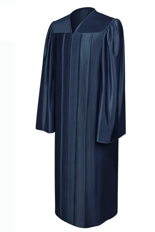 shiny-navy_blue-high_school-gown-Be.fore