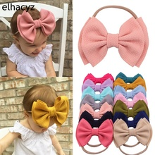 1PC New Arrival  Nylon Headbands 6 Double Layer Hair Bows Headband Soft Solid Elastic Kids DIY Accessories