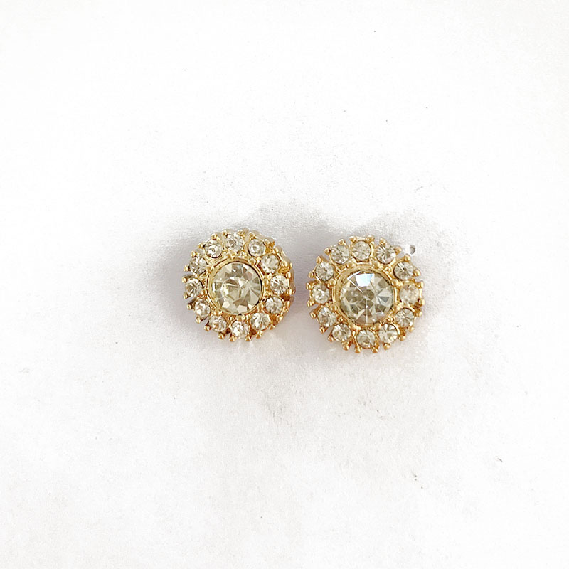 Free Shipping Crystal Gold Plating Cute Fashion Earrig