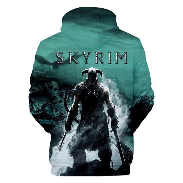 Толстовка Skyrim с капюшоном для мужчин и женщин  Skyrim -