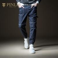 PINLI pin Li 2018 new autumn men's suit washed leg pants, foot jeans, B183216316