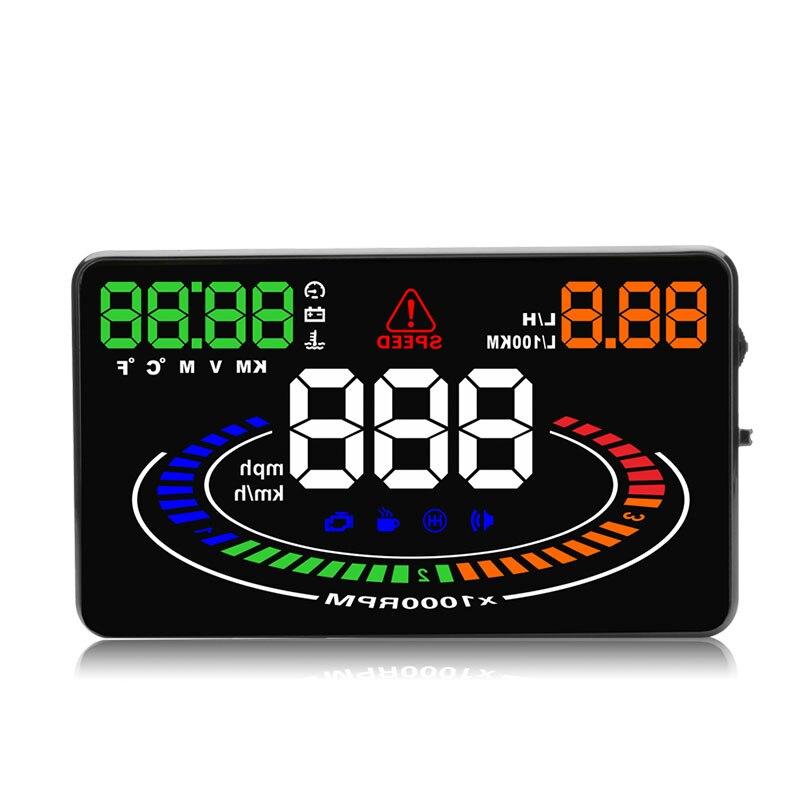E300 HUD OBD2 Head Up Display Voiture velocidad proyector OBD UE MPH KM/H Numérique Coche velocimetro en el parabrisas Proyector