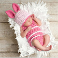 New Arrival Newborn Baby Clothing Set Cute Infant Knitted Clothing Set Rabbit Costume Crochet Photo Props Photography