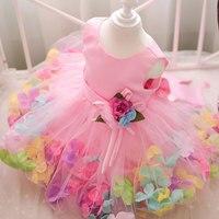 Venta al por menor de cuatro colores diferentes para niños vestido de la muchacha floral del partido vestido de la muchacha sin mangas vestido de bola del vestido L108