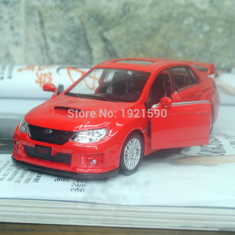 5pcs/pack Wholesale UNI 1/36 Scale Pull Back Car Toys Japan Subaru STI Diecast Metal Car Model Toy