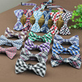 2016 Nuevo de Alta Calidad de Los Hombres Ocasionales del Algodón del Caballero de Bowtie Pajaritas Para Mariposa Corbata A Cuadros y Verificacion Del Smoking corbata