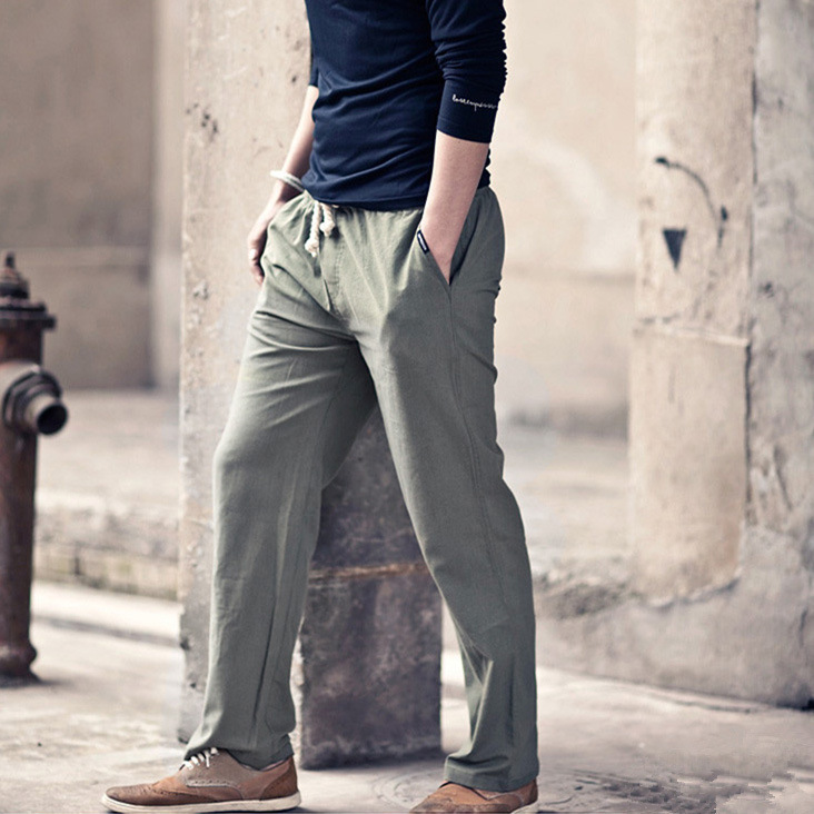Amato Pantaloni Lino Uomo XL13 » Regardsdefemmes KC53