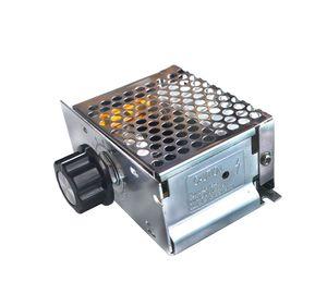 Image 2 - 4000W 220 V Ajuste SCR voltaj regülatörü Controle de Velocidade Motor Dimmer Termostato