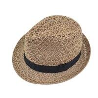 Модные Стиль Для женщин соломенная шляпа выдалбливают широкими полями шапки складной лето пляж Солнце Соломенные Шапки