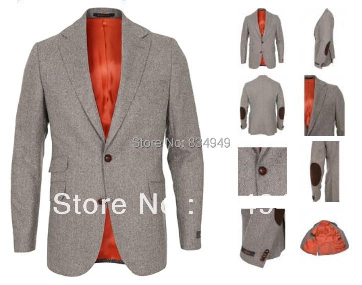 TweedDe Fait Mesurer Blazer Pour Commande Mode Chevrons Sur Veste En Tweed Casual HommesMesure USMGqzpV