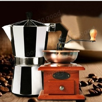 150ml 300ml Aluminum Moka Espresso Latte Percolator Stove Coffee Maker Pot Coffee Percolators Coffee Kettle Coffeeware