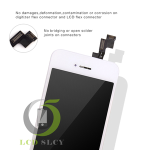 Image 5 - 100% Grade AAA For iPhone 5S LCD Pantalla Screen Display Touch Screen Digitizer Assembly Black White replace Tempered film+Tools