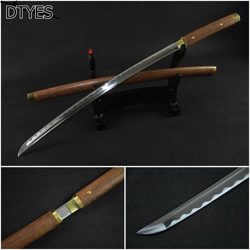Echt Katana Schwerter épée Katana 1095 Katana japonais fait à la main épée samouraï épée Katanas japonais Decorativas