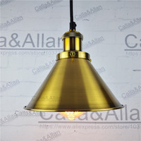 Antique brass finish Loft Industrial Iron pendant lights Vintage Ceiling mounted hanging Lamp Fixture lustres bronze house lamp