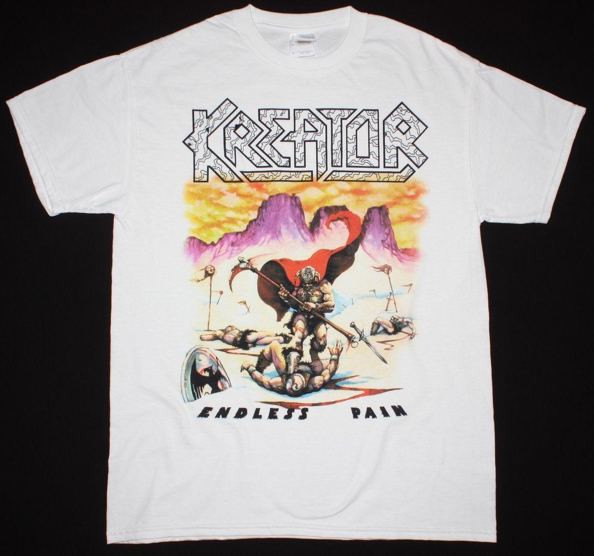 Креатор Endless Pain трэш уничтожения снудом коронер ярость новая белая футболка хип-хоп простой Сращивание футболки футболка ...