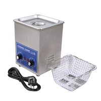PS 10 Stainless Steel Ultrasonic cleaner with washing basket Knob Control Heating 2L 70W